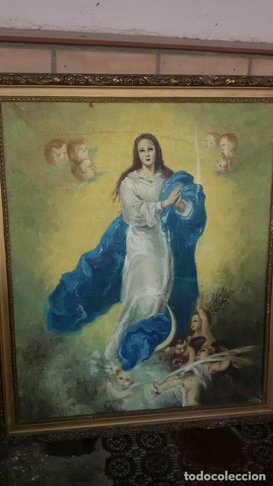 CUADRO ANTIGUO (Arte - Arte Religioso - Pintura Religiosa - Oleo)