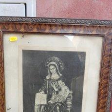 Arte: LÁMINA ENMARCADA VIRGEN JESUITA PUERTO SANTAMARÍA. Lote 69249621