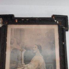 Arte: FOTOTIPIA, SANTA CECILIA, GRAN TAMAÑO ENMARCADA. Lote 194356220