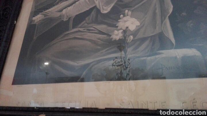 Arte: FOTOTIPIA, SANTA CECILIA, GRAN TAMAÑO ENMARCADA - Foto 4 - 194356220