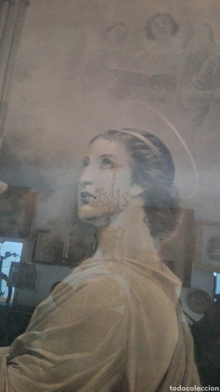 Arte: FOTOTIPIA, SANTA CECILIA, GRAN TAMAÑO ENMARCADA - Foto 5 - 194356220