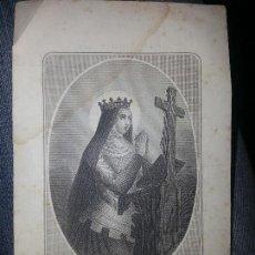 Arte: ORIGINAL ANTIGUO GRABADO SANTA CLOTILDE - PARIS - VICTOR REGNAULTST JACQUES . ORIGINAL 12 CM . Lote 69305993