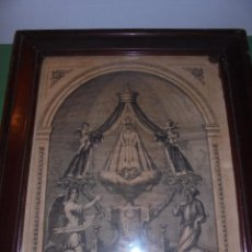 Arte: (M) SITGES - ANTIGUA LITOGRAFIA S.XIX - VIRGEN DEL VIÑET , MARIA SANTISIMA QUE SE VENERA EN SITGES . Lote 69362433