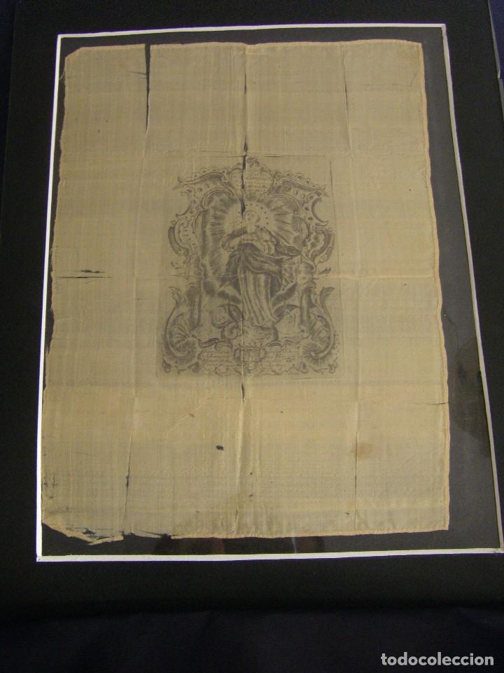 GRABADO SEDA S. XVIII INMACULADA DE ALICANTE, CONDE SOTO AMENO SCORCIA, DE PEDRO PAREDES ORIHUELA (Arte - Arte Religioso - Grabados)
