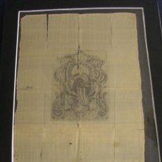 Arte: GRABADO SEDA S. XVIII INMACULADA DE ALICANTE, CONDE SOTO AMENO SCORCIA, DE PEDRO PAREDES ORIHUELA. Lote 69384137