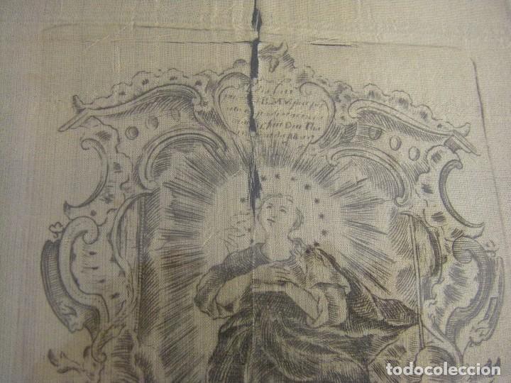 Arte: Grabado Seda s. XVIII Inmaculada de Alicante, Conde Soto Ameno Scorcia, de Pedro Paredes Orihuela - Foto 2 - 69384137