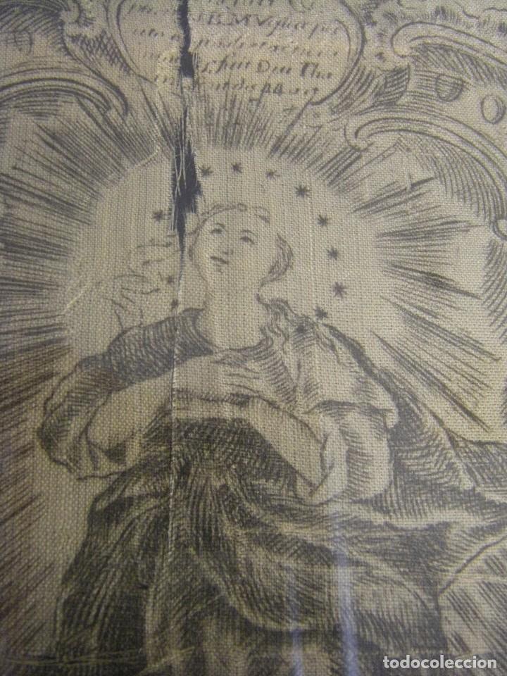 Arte: Grabado Seda s. XVIII Inmaculada de Alicante, Conde Soto Ameno Scorcia, de Pedro Paredes Orihuela - Foto 5 - 69384137