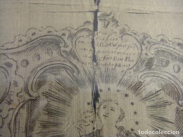 Arte: Grabado Seda s. XVIII Inmaculada de Alicante, Conde Soto Ameno Scorcia, de Pedro Paredes Orihuela - Foto 6 - 69384137
