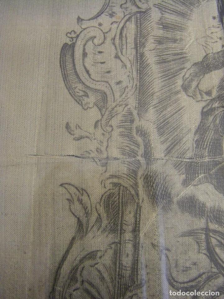 Arte: Grabado Seda s. XVIII Inmaculada de Alicante, Conde Soto Ameno Scorcia, de Pedro Paredes Orihuela - Foto 8 - 69384137