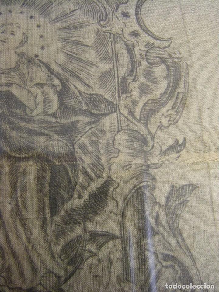 Arte: Grabado Seda s. XVIII Inmaculada de Alicante, Conde Soto Ameno Scorcia, de Pedro Paredes Orihuela - Foto 11 - 69384137