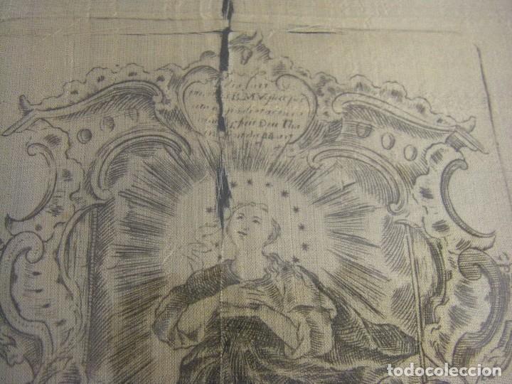Arte: Grabado Seda s. XVIII Inmaculada de Alicante, Conde Soto Ameno Scorcia, de Pedro Paredes Orihuela - Foto 12 - 69384137
