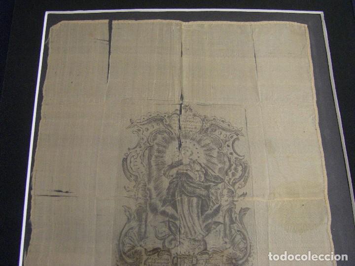 Arte: Grabado Seda s. XVIII Inmaculada de Alicante, Conde Soto Ameno Scorcia, de Pedro Paredes Orihuela - Foto 17 - 69384137