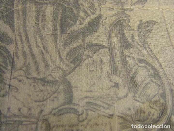 Arte: Grabado Seda s. XVIII Inmaculada de Alicante, Conde Soto Ameno Scorcia, de Pedro Paredes Orihuela - Foto 21 - 69384137