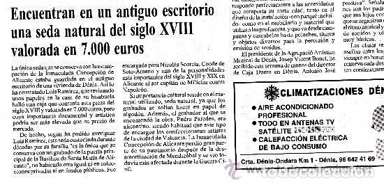 Arte: Grabado Seda s. XVIII Inmaculada de Alicante, Conde Soto Ameno Scorcia, de Pedro Paredes Orihuela - Foto 26 - 69384137