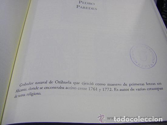 Arte: Grabado Seda s. XVIII Inmaculada de Alicante, Conde Soto Ameno Scorcia, de Pedro Paredes Orihuela - Foto 29 - 69384137