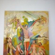 Arte: MIXTA , ÓLEO SOBRE LIENZO - CRISTO RECIBIDO POR DONCELLAS DESNUDAS 90CM X 117CM. Lote 69420133