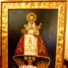 Arte: BELLISIMA VIRGEN DE COVADONGA AL OLEO (FIRMADA). Lote 69510169