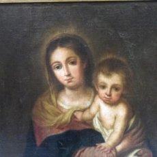 Arte: VIRGEN DE LA SERVILLETA, ESCUELA DE MURILLO SIGLO XVII-XVIII. Lote 69519213