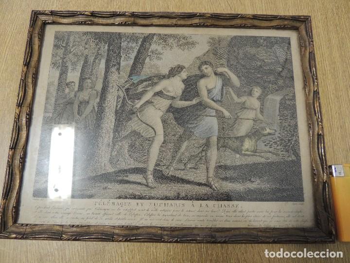 GRABADO 1870 TELEMACO (HUBERT/LEGRIS) (Arte - Arte Religioso - Litografías)