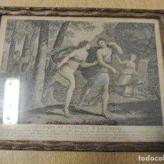 Arte: GRABADO 1870 TELEMACO (HUBERT/LEGRIS). Lote 69564385