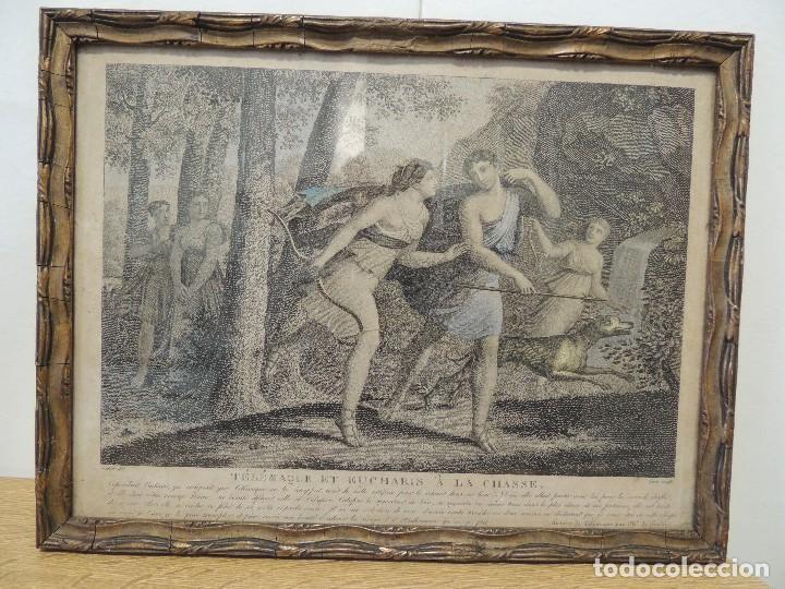 Arte: GRABADO 1870 TELEMACO (Hubert/Legris) - Foto 2 - 69564385