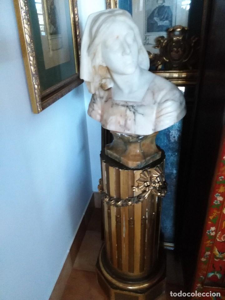 BUSTO ALABASTRO (Arte - Arte Religioso - Escultura)