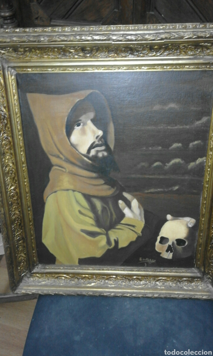 ÓLEO SOBRE LIENZO XX FIRMADO (Arte - Arte Religioso - Pintura Religiosa - Oleo)