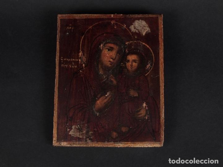 Arte: ANTIGUO ICONO RUSO SIGLO XVI - Foto 3 - 70028469