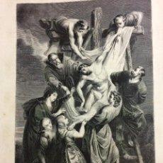 Arte: GRABADO S XIX CRUCIFIXIÓN DE JESÚS. Lote 70074041