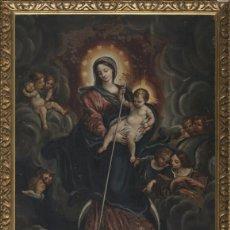 Arte: INMACULADA. OLEO SOBRE COBRE 57X43,8. ESCUELA ITALIANA SIGLO XVII. Lote 70104361