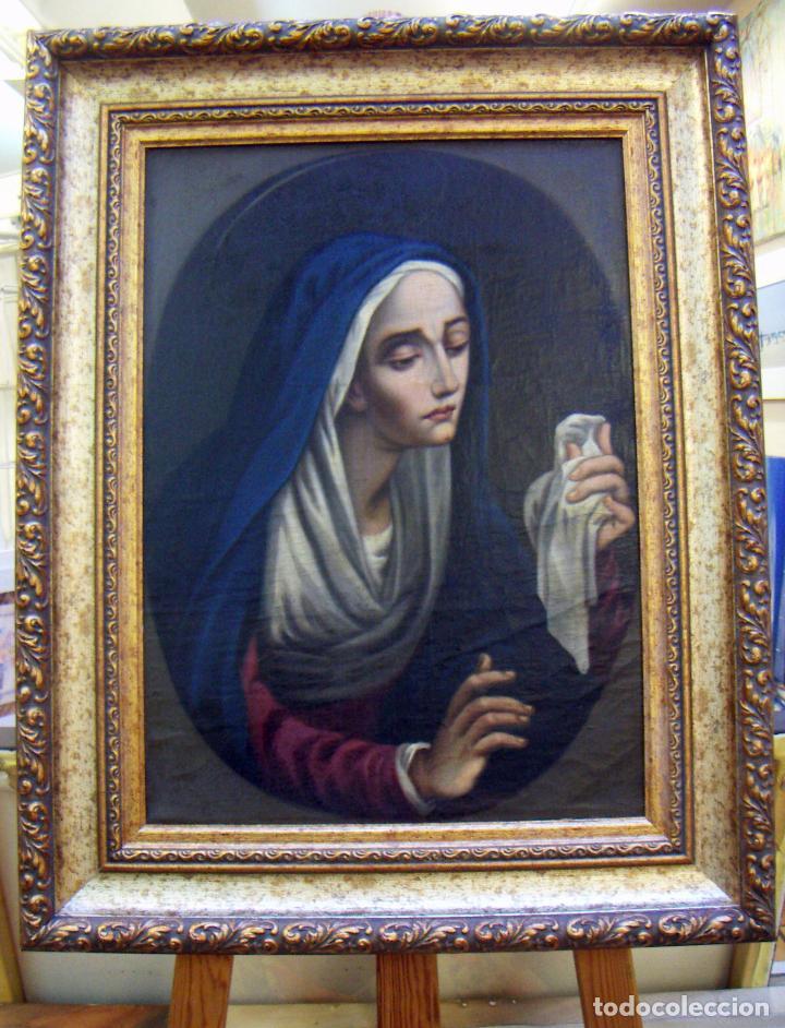OLEO ORIGINAL SIGLO XIX ENMARCADO (Arte - Arte Religioso - Pintura Religiosa - Oleo)