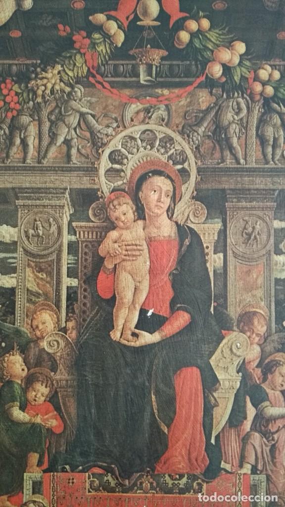 Arte: TRÍPTICO RELIGIOSO DE LA VIRGEN MARIA EL NIÑO JESUS.. ARTESANIAS GELBAR ZARAGOZA 52 X 96 CM - Foto 5 - 70370465