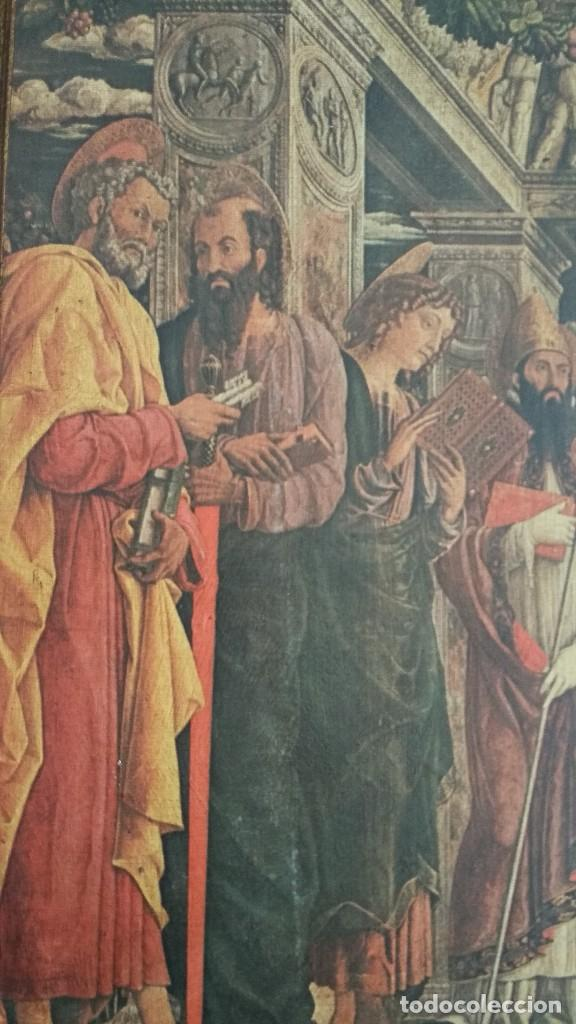 Arte: TRÍPTICO RELIGIOSO DE LA VIRGEN MARIA EL NIÑO JESUS.. ARTESANIAS GELBAR ZARAGOZA 52 X 96 CM - Foto 8 - 70370465