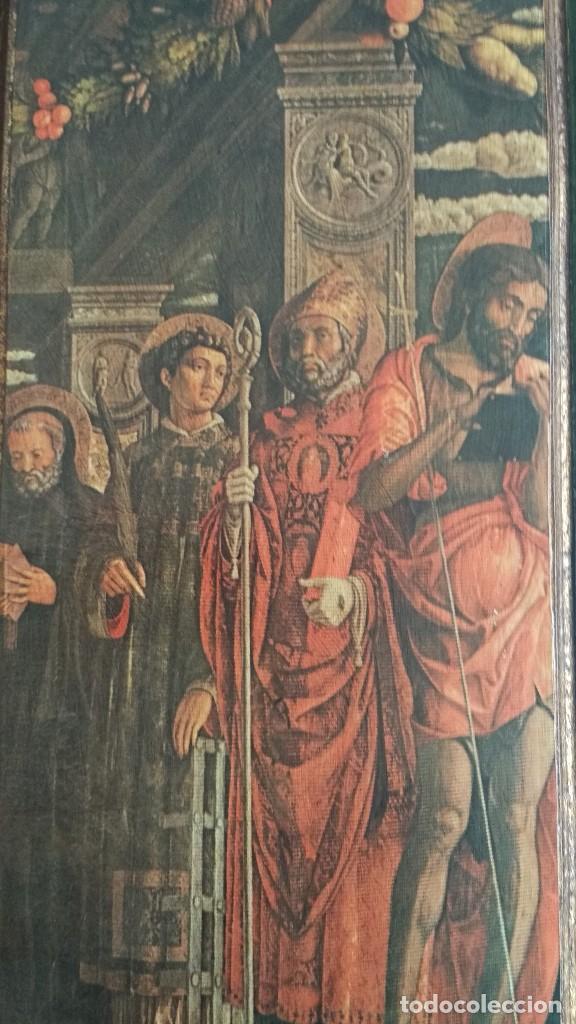 Arte: TRÍPTICO RELIGIOSO DE LA VIRGEN MARIA EL NIÑO JESUS.. ARTESANIAS GELBAR ZARAGOZA 52 X 96 CM - Foto 9 - 70370465