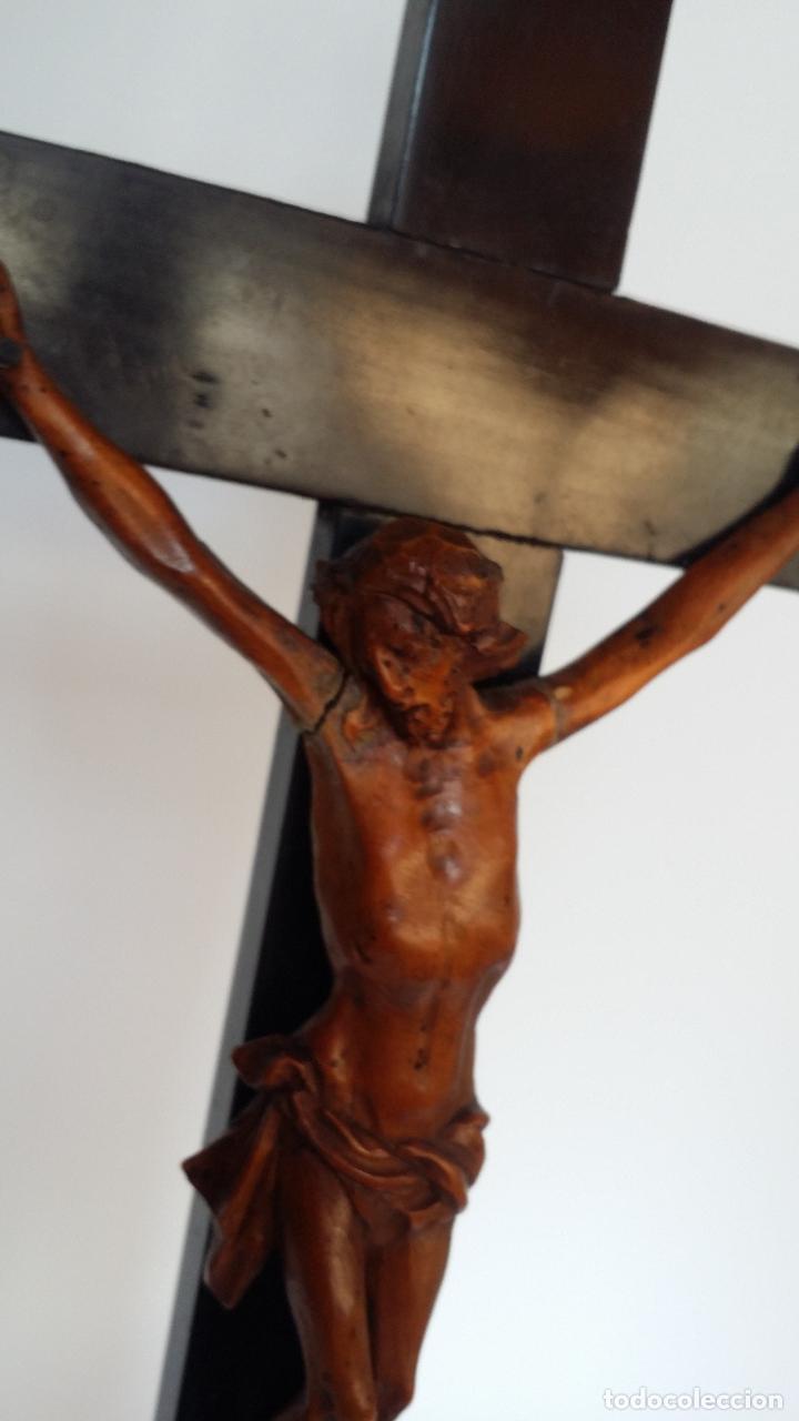Arte: CRISTO crucifijo, talla en madera de boj / siglo XIX - Foto 5 - 84402807