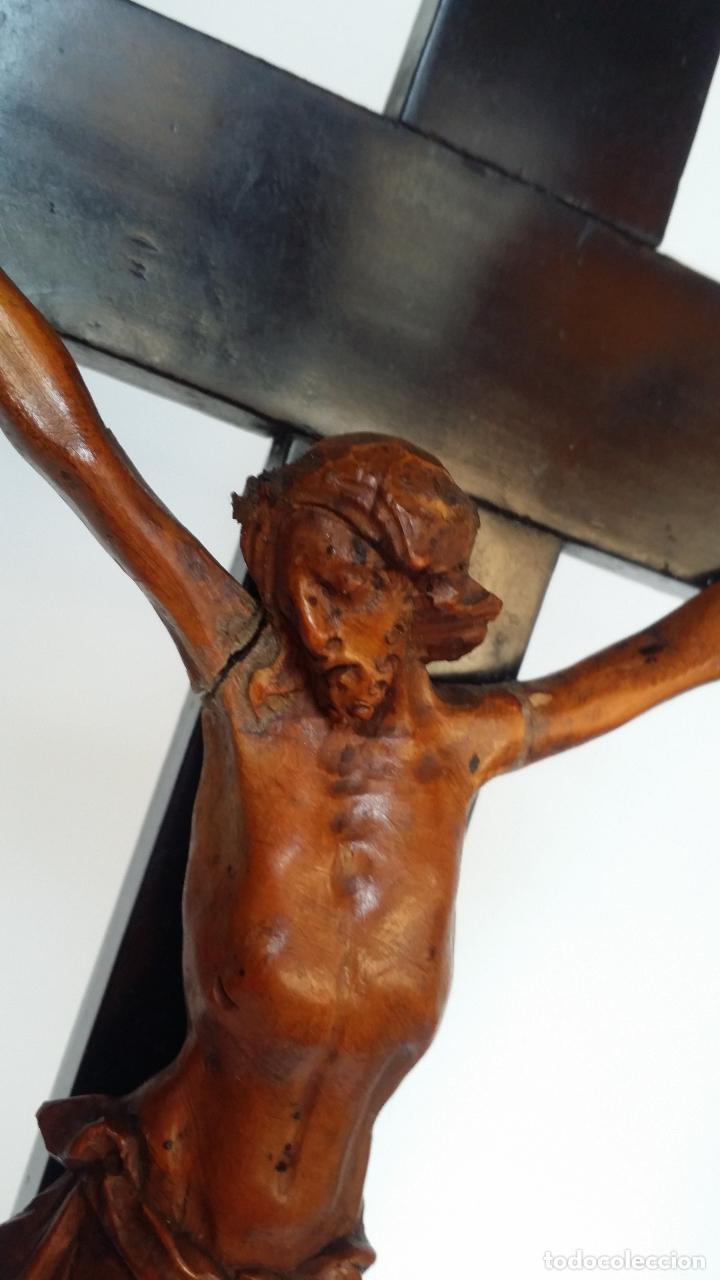 Arte: CRISTO crucifijo, talla en madera de boj / siglo XIX - Foto 6 - 84402807