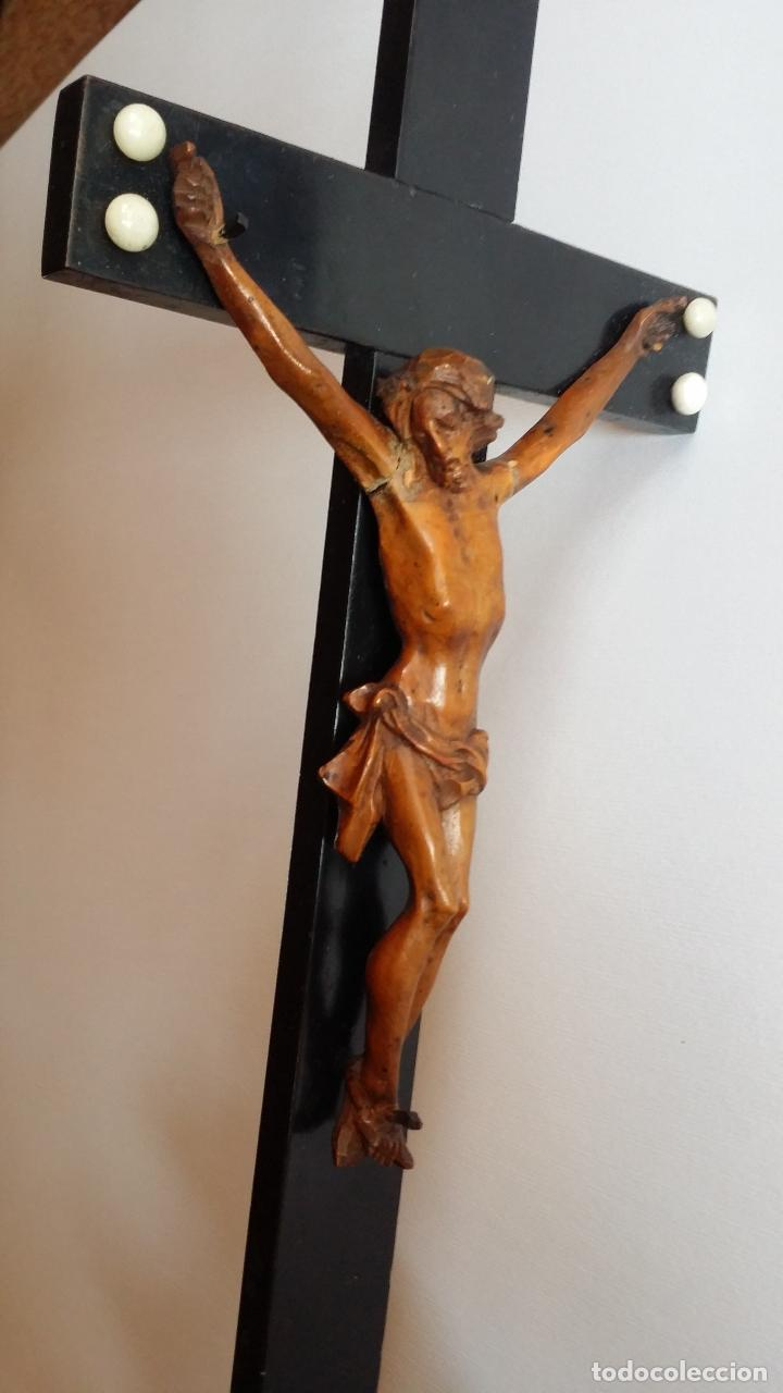 Arte: CRISTO crucifijo, talla en madera de boj / siglo XIX - Foto 7 - 84402807