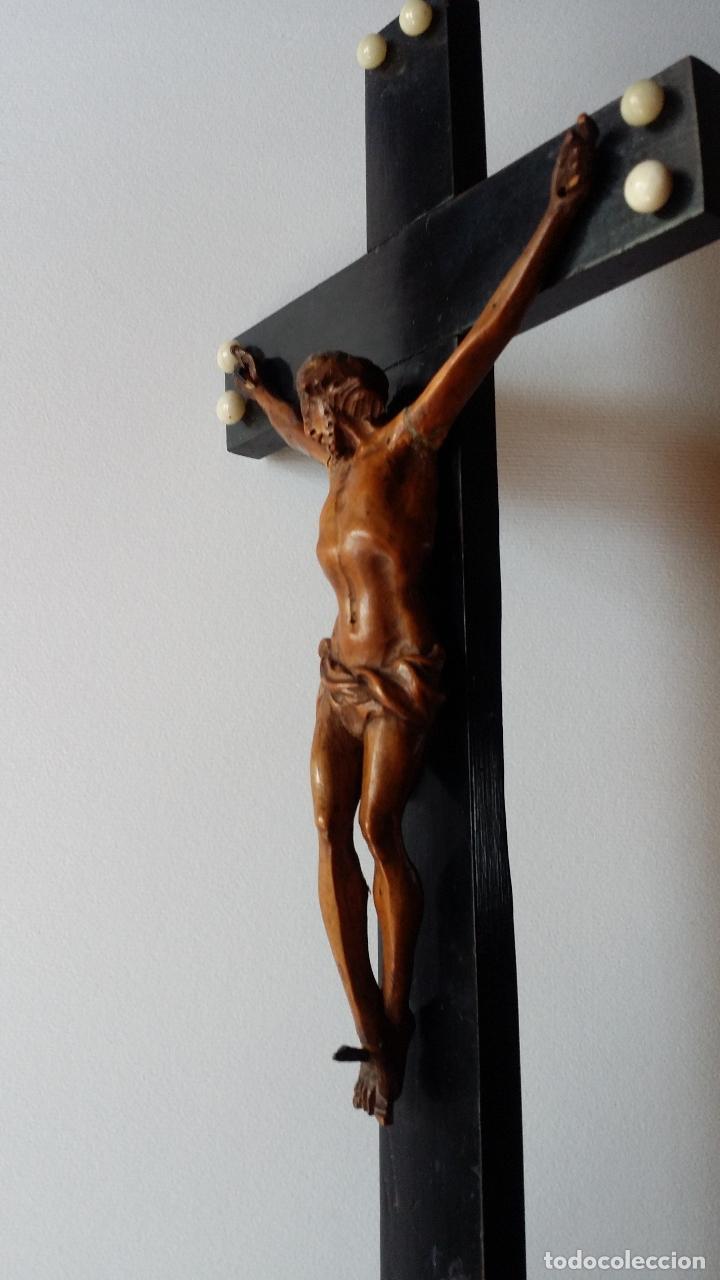 Arte: CRISTO crucifijo, talla en madera de boj / siglo XIX - Foto 8 - 84402807
