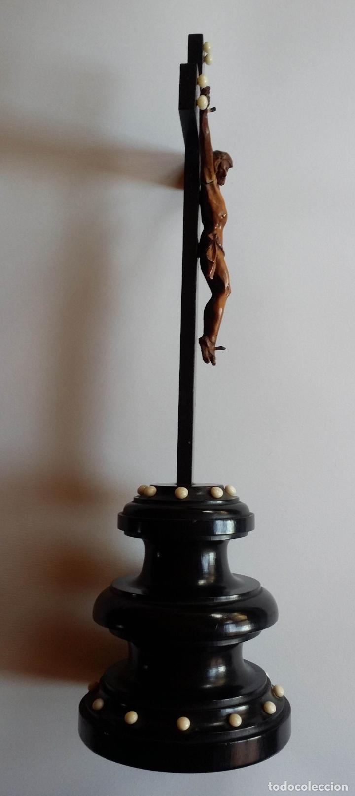 Arte: CRISTO crucifijo, talla en madera de boj / siglo XIX - Foto 10 - 84402807