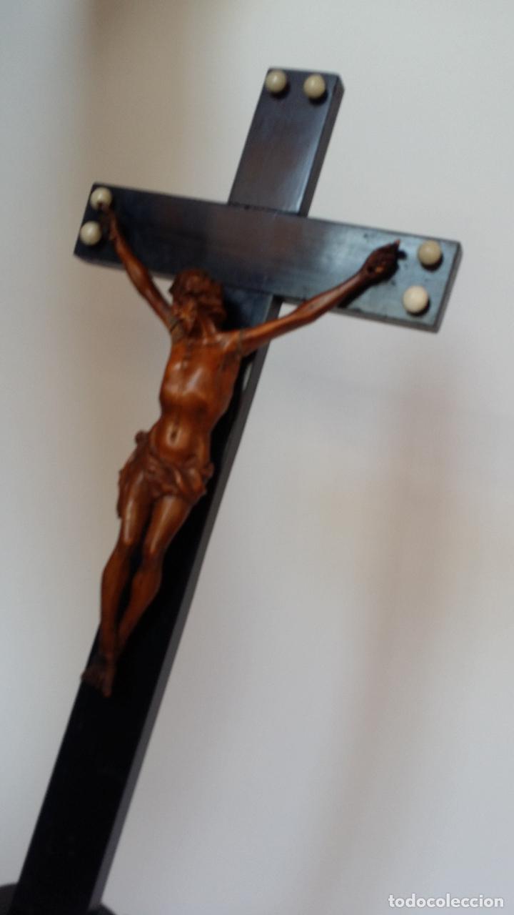 Arte: CRISTO crucifijo, talla en madera de boj / siglo XIX - Foto 11 - 84402807