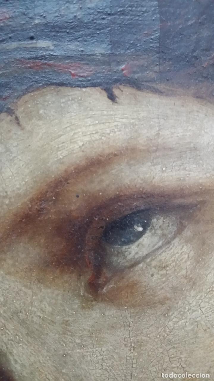 Arte: ECCE HOMO, óleo sobre lienzo. Firmado. Siglo XVII - Foto 2 - 70478885