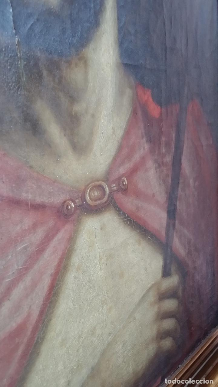 Arte: ECCE HOMO, óleo sobre lienzo. Firmado. Siglo XVII - Foto 12 - 70478885