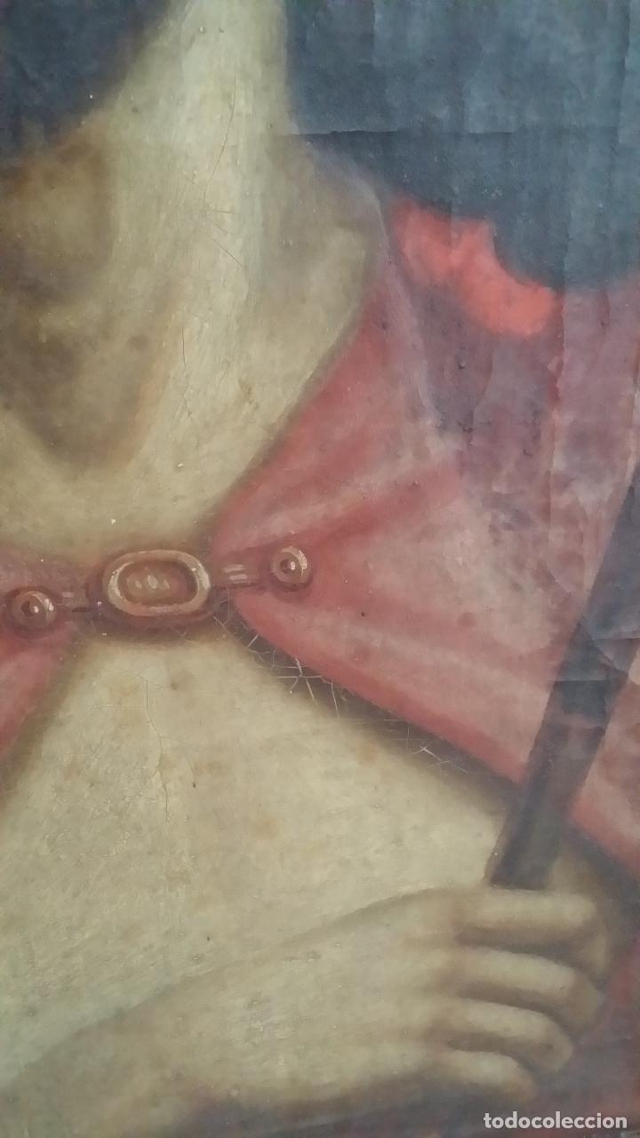 Arte: ECCE HOMO, óleo sobre lienzo. Firmado. Siglo XVII - Foto 14 - 70478885