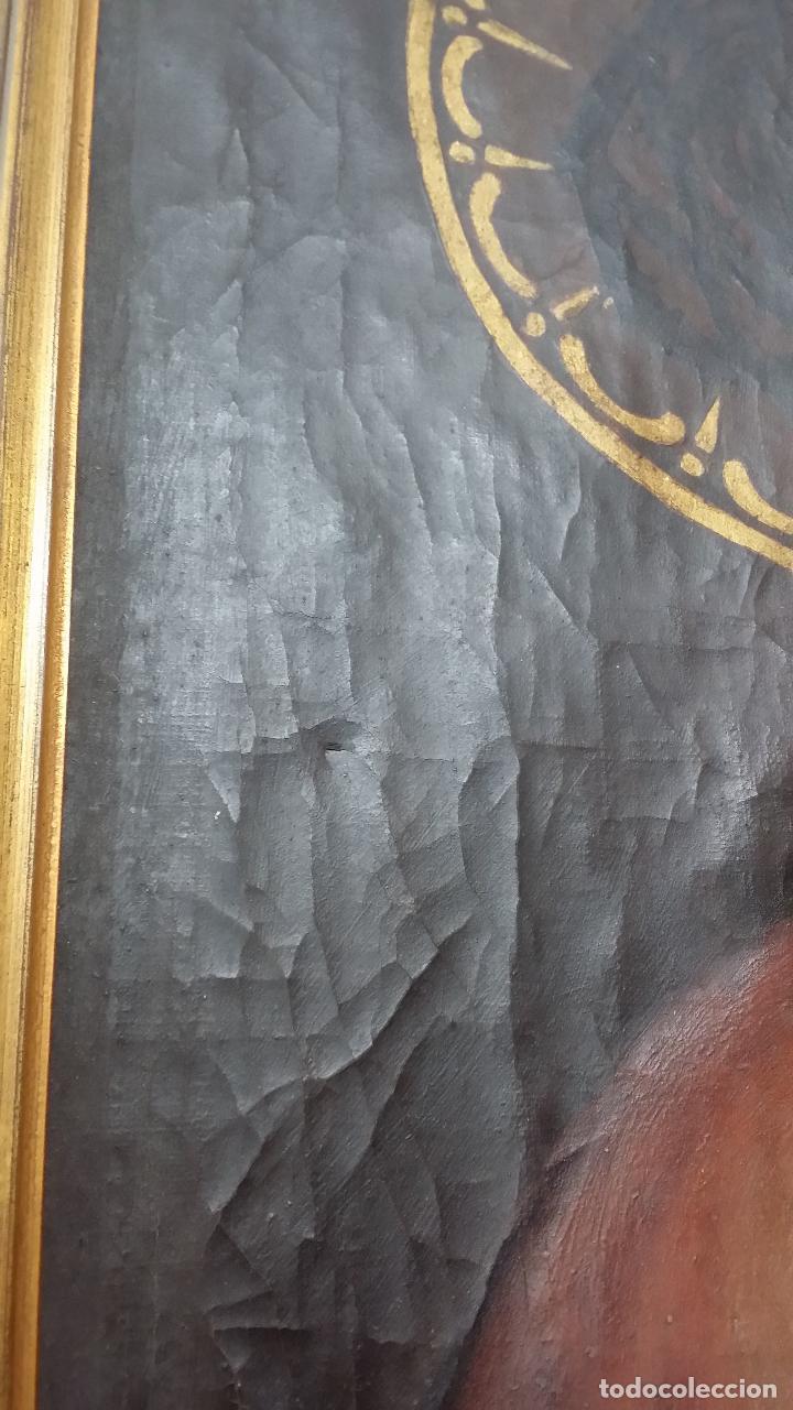 Arte: ECCE HOMO, óleo sobre lienzo. Firmado. Siglo XVII - Foto 15 - 70478885