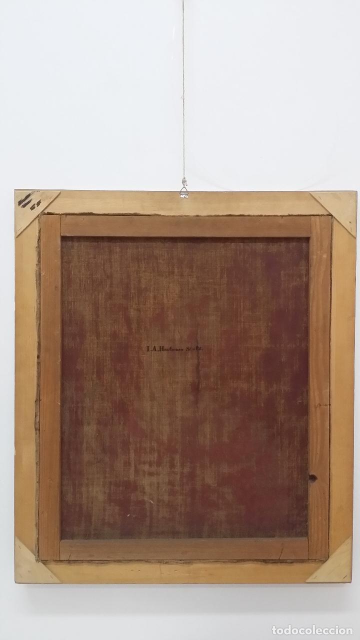 Arte: ECCE HOMO, óleo sobre lienzo. Firmado. Siglo XVII - Foto 19 - 70478885