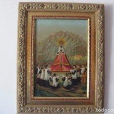 Arte: EXCELENTE CROMOLITROGRAFIA ENMARCADA ESCOLANIA DE MONTSERRAT SIGLO XIX. Lote 70838025