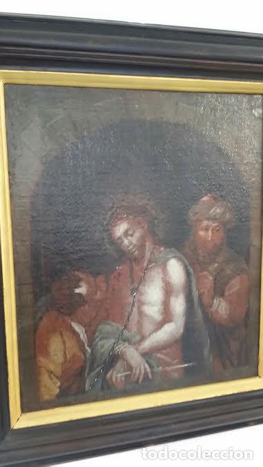 Arte: CRISTO ENCADENADO / ÓLEO SOBRE LIENZO / SIGLO XVII - Foto 10 - 53400645