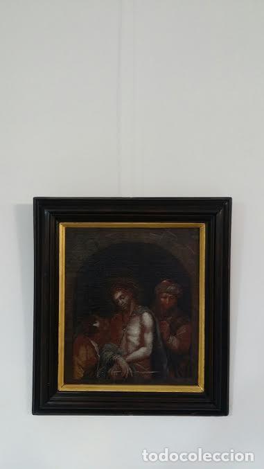 Arte: CRISTO ENCADENADO / ÓLEO SOBRE LIENZO / SIGLO XVII - Foto 12 - 53400645