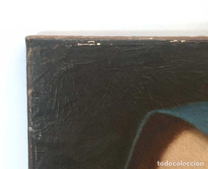 Arte: Cuadro Virgen Dolorosa en óleo sobre lienzo. S. XVIII - Foto 2 - 71055441