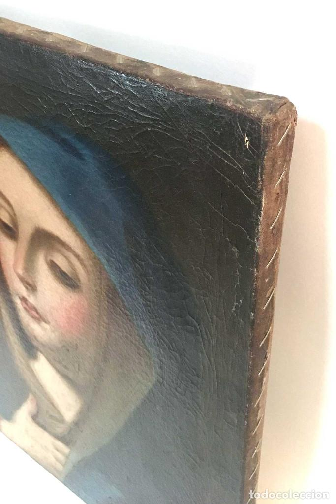 Arte: Cuadro Virgen Dolorosa en óleo sobre lienzo. S. XVIII - Foto 3 - 71055441